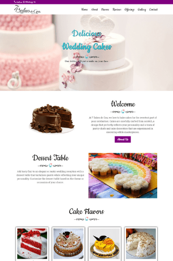 Website Design for Bakery