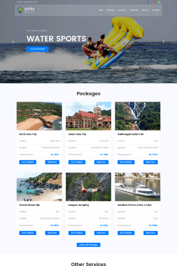 Best website designs for Tours and Travels