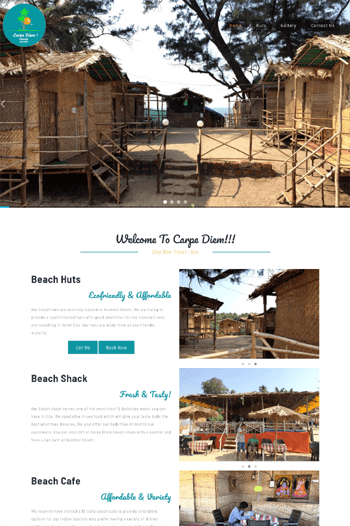 Best website designs for shacks