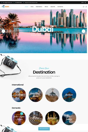 Best website designs for travel agency
