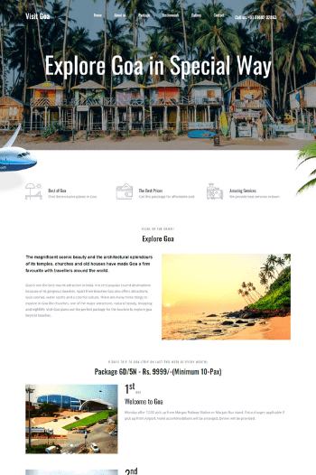 Best website designs for travel company