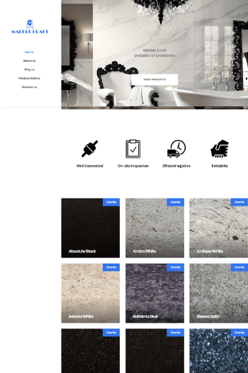 Best Website Design for Granite Exporter