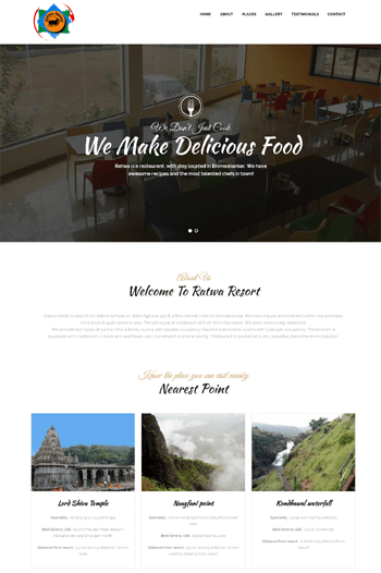 Best website designs for Resorts