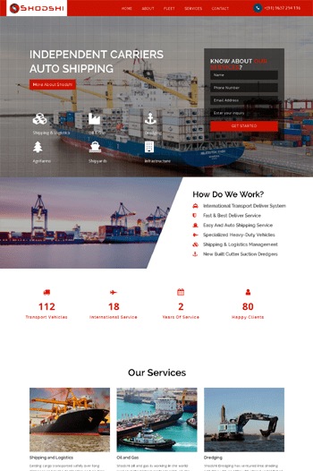 Best website designs for Shipping Company