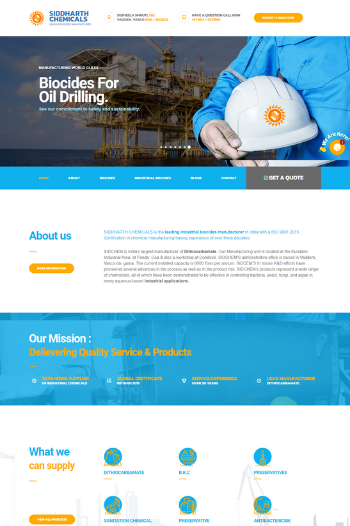 Best website designs for Chemical Industry